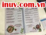 Sử dụng công nghệ in UV in menu quán ăn - giá in menu quán ăn