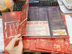 In menu quyến dán gói bồi formex - in menu chất lượng, in nhanh menu tại xưởng in UV 365 Lê Quang Định TPHCM