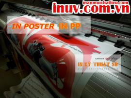 [In ấn mọi chất liệu] In poster với chất liệu PP