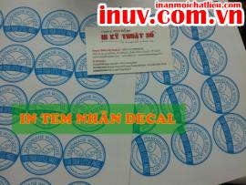 [In ấn mọi chất liệu] In tem nhãn, tem các loại với decal