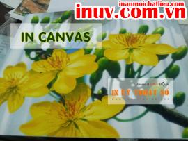 [In ấn mọi chất liệu] In tranh treo tường với canvas, silk