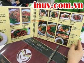 In thực đơn, in menu nhà hàng cao cấp công nghệ in UV